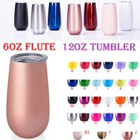 Wholesale christmas coffee mugs gifts - stainless steel tumbler 12oz wine tumblers rose gold 6oz flute Champagne cup unicorn Christmas gift 9oz coffee cup beer mugs