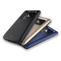 banco de potencia cargador portátil venta al por mayor-2019 Top Sale Power Banks Cubierta del teléfono del cargador portátil negro azul color dorado Caso del cargador para Samsung S9 4700mAh