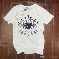 Wholesale women s cloths - 2018 new Brand Tiger Head Cloth Embroidered T-Shirt Men Women Short Sleeve Summer Cotton Tees Skateboards Shirt Floral Triangle Tees.