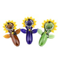 Wholesale use pipe for smoking resale online - Latest styles Hand blown hand pipe flower shape glass pipes Multiple Colors smoking pipe for tobacco use