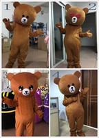 mascotes de urso adulto venda por atacado-Urso Marrom Dos Desenhos Animados Traje Desempenho Chapelaria Mascote Traje Da Boneca Dos Desenhos Animados Terno tamanho Adulto festivo dia adulto roupas de boneca