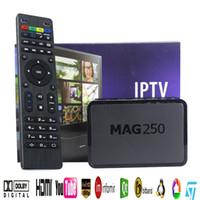 ingrosso decoder superiore-IPTV Set Top Box Sistema operativo Linux Mag250 Iptv Set Top Box senza includere Iptv Account Mag 250 Decoder
