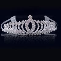 diamond reines haar großhandel-Kinderkronen, Diamant-Haar-Accessoires, Performance-Reifen, Bräute Hochzeit Kopfbedeckungen, unberührte Haare Reifen.