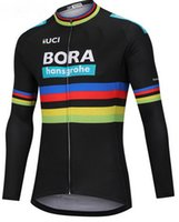 Wholesale blue thermal - WINTER FLEECE THERMAL 2018 BORA PRO TEAM UCI PETER SAGAN 3 COLORS ONLY LONG SLEEVE CYCLING JERSEY SIZE:XS-4XL