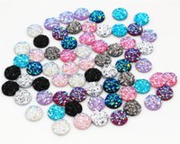 Wholesale Resin Cameos Wholesale - New Fashion Mix Color Natural Stone Shape Series Flat Back Resin Cabochons Cameo 40pcs 8mm