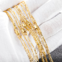 Wholesale gold 2mm - New Wholesale 1pc Silver 2mm 3:1 Fashion Figaro Chain Necklace for Men Jewelry 16inch-30inch X220