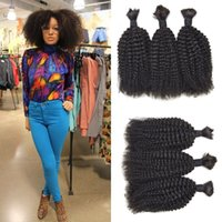 Wholesale curly human hair for weaving for sale - Group buy Human Hair Weaves In Bulk Afro Kinky Curly bundle For Black Women Natural Human Hair Non Processed G EASY