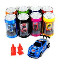 ingrosso coke mini racer cars-Auto RC 8 colori Mini-Racer Telecomando auto rc Coke Can Mini RC Radio Telecomando Micro Racing 1:63 Auto 8803
