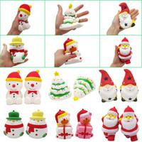 árvore de natal de brinquedo venda por atacado-Kawaii Squishy Brinquedos Presentes De Natal Bonito Squishies Árvore De Natal De Papai Noel Presente Urso Boneco De Neve Decorações De Natal Descompressão Brinquedo
