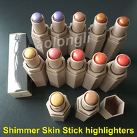 Wholesale waterproof matches wholesale - Match Stix Highlighters Stick Shimmer Skinstick Concealer 12 colors Beauty Pro Filt'r Soft Matte Longwear highlighters stick in stock