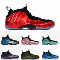 Wholesale foam running shoes for sale - Group buy 2018 Mens Basketball Shoes air Foam One Eggplant penny hardaway shoes sports Red Blue White Designer Sneakers Limited time discount US