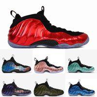 zapatos de una sola vez al por mayor-2018 zapatos de baloncesto para hombre de espuma de aire, una berenjena, un centavo, zapatos resistentes, rojos, azules, blancos, zapatillas de deporte de diseñador.