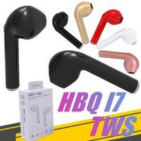 auriculares mini inalámbrico móvil al por mayor-Auricular inalámbrico HBQ I7 bluetooth headset TWS Twins Mini auricular inalámbrico para teléfono móvil paquete al por menor