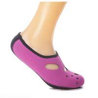 schuhe ausüben großhandel-Schöne Wasserschuhe Aqua Socken Übung Pool Beach Dance Schwimmen Tauchen Slip Socken Rose Red