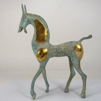 Wholesale collectible horse statues - Collectable China Old Handwork Copper Horse Statue Decoration