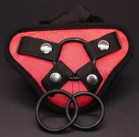 Wholesale women sex toys dildos online - NEW Satin Strap On Dildo Harness Adjustable Belt Strap Harness Pants For Women Lesbian Gay Sex Toys Dildos Dongs