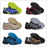 Wholesale pink camo - Salomon Speed Cross 3 CS III Outdoor Male Camo Red Black Sports Shoes mens Speed Crosspeed 3 running shoes eur 40-46 20 color