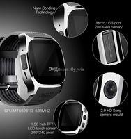 новейшая интеллектуальная камера для часов оптовых-Новые SmartWatch T8 Bluetooth Smart Watch для Android поддержка позиционирования шагомер SIM TF карта с камеры синхронизации вызова сообщение SmartWatch