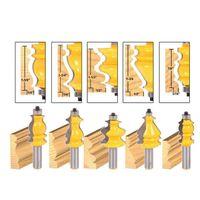 Wholesale router online - 5 set Casing Base Molding Router Bit Set quot Shank CNC Line Woodworking Cutter Bits