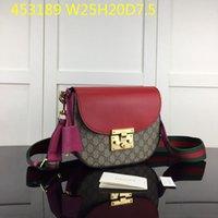 ingrosso sacchetto di tote del lucchetto-vera pelle di design in vera pelle di marca femminile Padlock MESSENGER SACCHETTO in PVC spalla tracolla di borse di corpo 453189 con numero serio