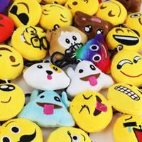 Wholesale fashion design dolls - Kawaii Emoji Plush Doll Pendant Creative Expression Design Keychain Kid Gift Fashion Bag Car Decor Toy Charms Jewelry 0 95ht YY