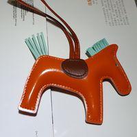corrente chave de couro artesanal venda por atacado-FancyFantasy Famoso luxo artesanal de couro de cavalo Keychain animal Chaveiro Mulheres Bag Pingente encanto Acessórios K-282