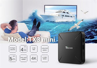 Wholesale t95m android tv box resale online - New TX3 MINI H L Android TV Box Amlogic S905W Krypton GB GB GB GB VS T95M X96 MXQ PRO