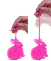 bounce licht bälle großhandel-LED Light Up Kaninchen Flash Finger Bouncing Ball Finger Spielzeug Flashing Cartoon Haustier Tier Spielzeug Baby Aktivität Spielzeug Kinder Dekompression Spielzeug