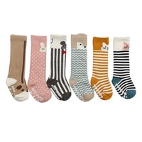 Wholesale girls pussy - Pussy Kids Socks Cotton Knee Length Socks Toddler Girls Leg Warmer Cartoon Soft Boys Anti Slip Sock Autumn Baby Girls Clothing