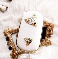 handgemachte kupplungen verkauf großhandel-Fabrikverkauf Markenhandtasche exquisite Diamant Biene Perle Handtasche handgefertigte dreidimensionale Frau Leder Abendtasche Clutch Hochzeitsbankett