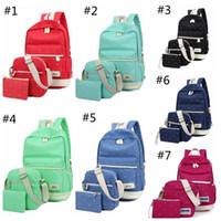 Wholesale Cute Laptop Backpacks - Casual canvas backpack crossbody bag laptop bag shoulder bag school backpack preppy cute bookbags 7 colors YYA1170