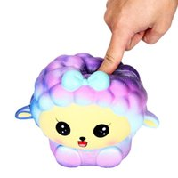 Wholesale sheep big for sale - Group buy 18cm Squishy Jumbo Big Galaxy Sheep Slow Rising Cream Squeeze Scented Cure Toys Kawaii Soft cellphone straps