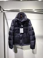 Wholesale Puffer Jacket Men - New Fashion Luxury Brand Mon Man Dark Navy Winter Men's Down puffer jacket Casual Brand Hoodies Down Parkas Warm High Quality Coats Designer