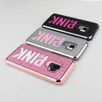 ingrosso flash casi 3d-Rosa Cover Fashion Glitter 3D Ricamo Rosa Flash Polvere Cassa del telefono del metallo per iPhone XR, XS, XS Max X 6 7 8 P per Samsung S10 s10p s10e