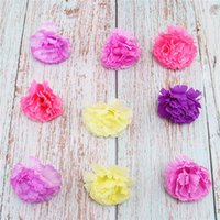Wholesale carnations flower colors online - 30pcs Colors Decorative Flowers Artificial Silk Flowers Carnation Flower Heads For Home Garden Wedding Party Decoration