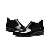 ingrosso stivali da lavoro oxford-Ciabatta da uomo in vera pelle da uomo di alta qualità nero / rosso