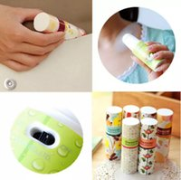 Wholesale small size lipstick online - Portable Mini Handheld Lipstick Shape Fan Portable Small Battery Operated Cooler Battery Operated Table Fan