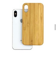 Wholesale engrave wood cover - Best Selling Professional Wood Case For Iphone X 7 PLUS 8 6 6S Phone Cover Engraving Bamboo Wooden Hard Back Shockproof For Samsung S9 S8 S7