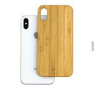 iphone grabado de nuevo al por mayor-Caja de madera profesional superventas para Iphone X 7 PLUS 8 6 6S cubierta del teléfono Grabado de bambú de madera duro trasero a prueba de golpes para Samsung S9 S8 S7
