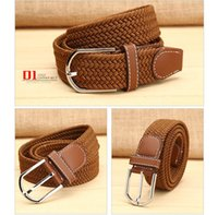 Wholesale Men Casual Belts Best Brands - Best quality champi & supre designer brand fashion Canvas belt yeezus Elastic woven elastic waistband smooth buckle color free shipping