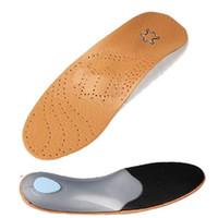 ortopedia mulheres venda por atacado-Ortopedia Palmilha para Flat Foot Arch Suporte 25mm Palmilhas de Silicone ortopédicos para mulheres dos homens Sapatos Palmilhas