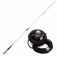 мобильная автомобильная укв оптовых-Diamond SG-7500 Dual Band VHF/UHF 144/430MHz Stainless Steel 150W 3.5/6.0dBi Antenna With Magnetic Mount for Car Mobile Radio
