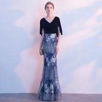 bild spandex kleid großhandel-2017 Haifa Wahbe Perlen Abendkleider Sexy Cape Stil Neueste Meerjungfrau Abendkleider Dubai Arabisch V-ausschnitt Party Kleider Reale Bilder