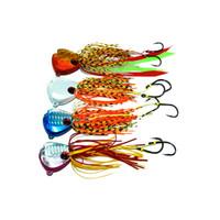 jig saias venda por atacado-1 unidades / pacote 60g / 80g / 100g Inchiku jig isca de borracha saia dupla assistência gancho chumbo jig isca de pesca do barco marinho isca de pesca isca isca