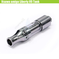 Wholesale touch tanks resale online - Amigo Liberty V9 Tank Ceramic Coils Itsuwa Cartridges Pyrex Glass Atomizer Thick Oil Bud Touch CE3 O Pen Vape PP Tube A3 G10 Vaporizer