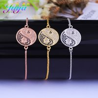 Wholesale designs friendship bracelets resale online - 2018 New Design Friendship Bracelet Gold Silver Rose Gold Yin Yang Tai Chi Connect Bracelet For Women Men Hanmade Gift