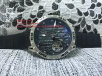 hochleistungsuhren großhandel-Fabrikverkauf RD Uhr Gangreserve 45mm schwarz Edelstahl-Zifferblatt Automatische mechanische hochwertige Mode Herrenuhren