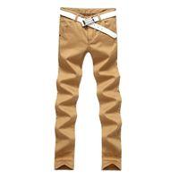 Wholesale Thick Fleece Pants Men 3xl - Wholesale- 2016 Winter Mens Fleece Lined Sweat Pants Slim Fit Thick Warm Casual Khaki Joggers Male Cotton Straight Themal Trousers Q2579