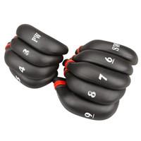 ingrosso gomma nera di ferro-Di alta qualità 9 pezzi gomma nera Golf Head Cover Golf Club Iron Putter Head Covers Proteggi Set 3,4,5,6,7,8,9, PW, SW