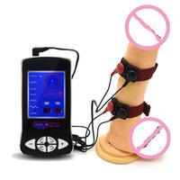 erkek uyarılma oyuncakları toptan satış-Tıbbi tema elektrik çarpması penis masajı toka ürün erkek elektrik penis elektrik stimülasyon SM seks oyuncak